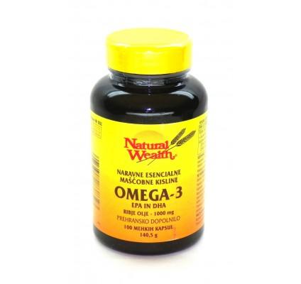 Omega-3, 1000 mg, 100 kapsul