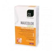 Barva za lase 01 naravno črna Maxcolor Vegetal 140 ml