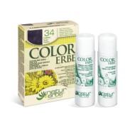 COLOR ERBE® 34 temno vijolično kostanjeva barva za lase