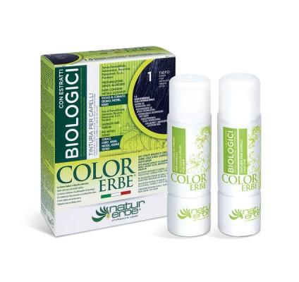 COLOR ERBE® 1 črna barva za lase z biološkimi izvlečki
