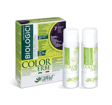 COLOR ERBE® 7 mahagonijeva barva za lase z biološkimi izvlečki