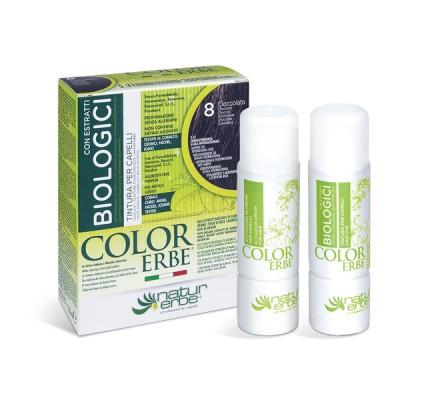 COLOR ERBE® 8 čokoladno rjava barva za lase z biološkimi izvlečki