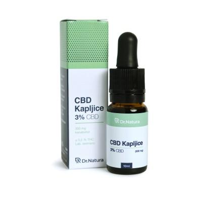 CBD KAPLJICE 3 % / 10 ml, DR NATURA
